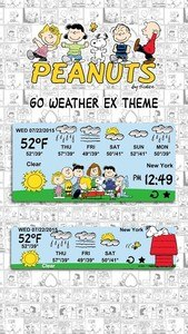 Peanuts Weather Widget Theme