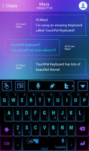 TouchPal Neon Light Theme