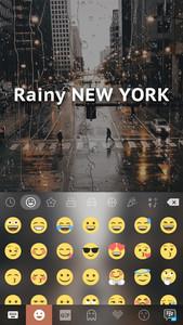 Rainy New York Kika Keyboard