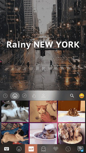 Rainy New York Kika Keyboard
