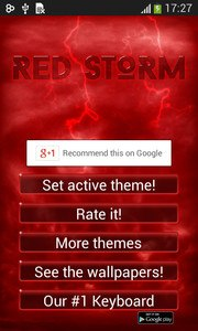 Red Storm Keyboard Theme