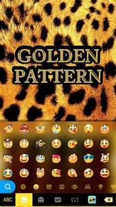 Golden Pattern Kika Keyboard