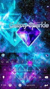 Galaxy Sparkle Kika Keyboard