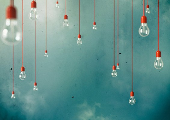 Lightbulbs Hanging