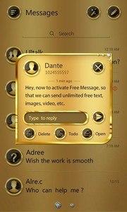 (FREE) GO SMS GOLD THEME