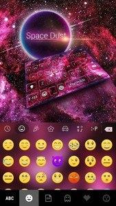 Space Dust Emoji Kika Keyboard