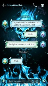 (FREE) GO SMS SKULL THEME