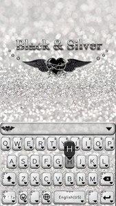 Black & Silver Kika Keyboard