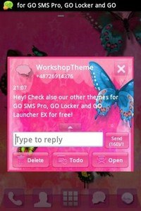 GO SMS Pro Theme Pink Nice