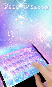 Pink Purple GO Keyboard Theme