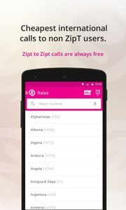 Zipt - free calls and messages