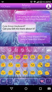 Bright Emoji Keyboard Theme