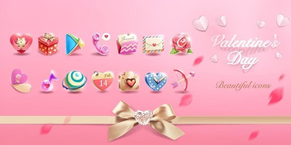 Valentine's DayGOLauncherTheme