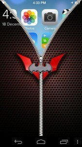Bat Zip Lock Screen
