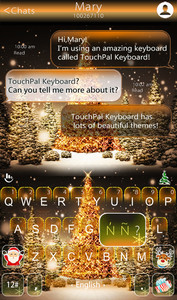 Golden Christmas Tree Keyboard