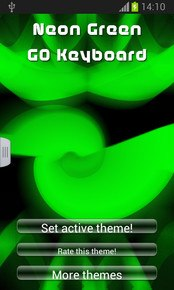 Neon Green GO Keyboard