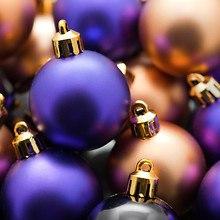 Christmas Gold & Purple Baubles