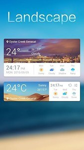 Landscape Weather Widget Theme