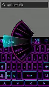 Color Keyboard Neon Purple