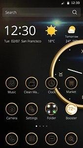 Luxury Clock theme