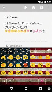 US Emoji Keyboard Theme