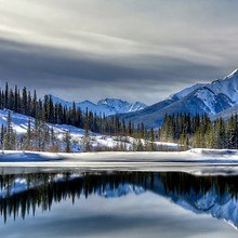Winter Mirror Lake