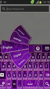 GO Keyboard Purple Flame