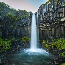 Svartifoss (Black Fall) Waterfall