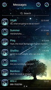 (FREE) GO SMS PRO STARRY THEME