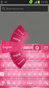 GO Keyboard Glow Pink