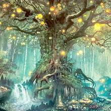 Magical Tree Within A Fantasy World