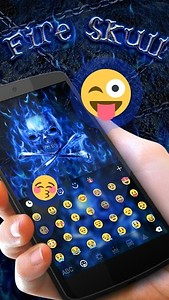 Fire Skull GO Keyboard Theme