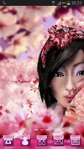 Japan Girl GO Launcher Theme