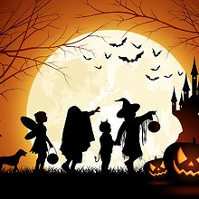 Trick Or Treat Kids Silhouette