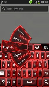 GO Keyboard Neon Red Free