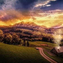 Surreal Mountain View