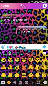 Rainbow Cheetah Emoji Keyboard