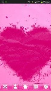 Launcher Theme Pink Heart