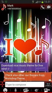 GO SMS Pro Theme 4 music