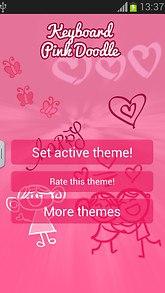 Keyboard Pink Doodle
