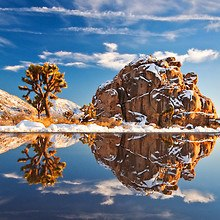 Snow Covered Desert Rock