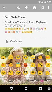 Cute Photo Emoji Keyboard Free