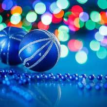 Blue Bauble Bokeh