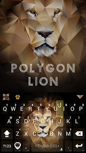 Polygon Lion Kika Keyboard