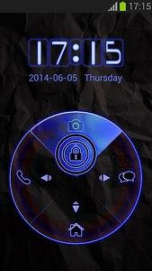 Blue Neon Locker