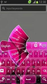 Pink Glamour GO Keyboard