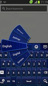GO Keyboard Dark Blue Themes