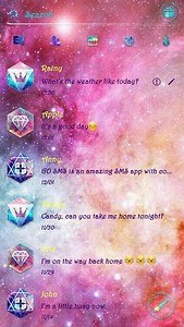 (FREE) GO SMS MILKY WAY THEME
