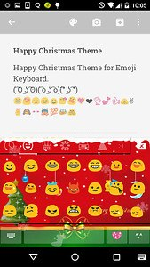 Happy Christmas Emoji Keyboard