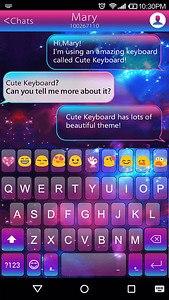 Color Galaxy Emoji Keyboard